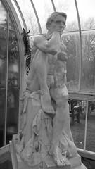 Kibble Palace 08 (byronv2) Tags: blackandwhite bw plants history nature monochrome statue garden blackwhite poetry poem glasgow victorian carving marble botany botanicalgarden westend longfellow botanicgardens kibblepalace georgehenrypaulin kingrobertofsicily