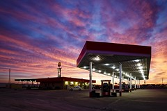 Fast Lane Sunrise II (Notley) Tags: morning sky color clouds sunrise lights spring gas gasstation truckstop missouri april callawaycounty i70 phillips66 fastlane interstate70 10thavenue kingdomcity distributoredibenzina postodegasolina notley ruralphotography notleyhawkins missouriphotography stationdegaz httpwwwnotleyhawkinscom notleyhawkinsphotography