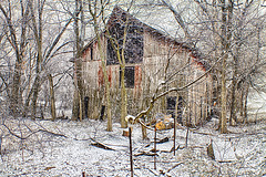 Snowstorm on the farm (Kansas Poetry (Patrick)) Tags: snow barn farm kansas abandonedfarm patrickemerson patricklovesnancy