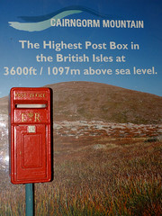 41 Highest Post Box, Cairngorm P1160264mods (Andrew Wright2009) Tags: uk vacation mountain holiday scotland highlands post mail box britain scenic scottish cairngorm highest