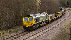 Freight liner Class 66/5 no 66545 brings up the rear at Boughton on the Network Rail Test Track with a track re-laying consist on 29-03-2016 (kevaruka) Tags: uk greatbritain england cloud color colour colors clouds composition train canon march countryside spring flickr colours cloudy unitedkingdom rail railway trains explore gb 5d locomotive frontpage nottinghamshire ollerton testtrack engineers boughton cloudyday freightliner class66 networkrail railfreight 66545 railnetwork canon5dmk3 5dmk3 5d3 ldecr 5diii canon70200f28ismk2 canoneos5dmk3 ilobsterit