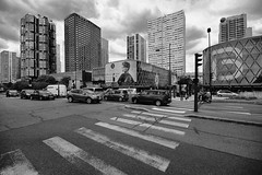 D71_4647BW (vkalivoda) Tags: road street city blackandwhite paris france building monochrome architecture europa downtown ngc crossroad francie pa budovy