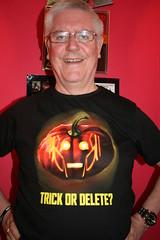 Trick Or Delete? (ianharrywebb) Tags: portrait halloween tshirt drwho selfie iansdigitalphotos