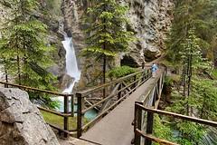 Upper Falls in Johnston Canyon, between Banff and Lake Louise, Alberta, Canada. (BCVacation) Tags: travel canada tourism nationalpark bc britishcolumbia alberta banff lakelouise upperfalls johnstoncanyon johnstoncreek johnstoncanyonalberta