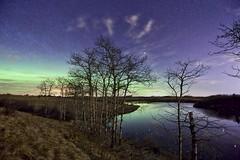 Lochend pond Aspens edit (John Andersen (JPAndersen images)) Tags: lake night reflections alberta aurora aspens madden aurorahdr