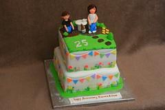 25th anniversary cake (Eldriva) Tags: gardening 25thweddinganniversary