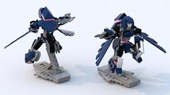 TF: Prime Arcee (MFZ Scale) (phayze81) Tags: lego transformer frame scifi mf sciencefiction mecha mech moc ldd tfp arcee mfz mobileframe legorender transformersprime mf0 mobileframezero variableframe bluerender transformingmecha