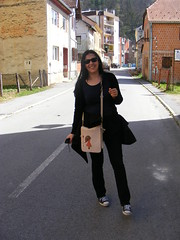 Kostajnica... Croatian side (sean and nina) Tags: street blue woman black public girl beautiful beauty face sunglasses shirt lady female dark hair outside happy photography girlfriend long married photos outdoor candid gorgeous croatia tourist stunning april wife trousers charming visitors visitor tee cardigan touring hrvatska fiancee concentrating serb 2016 kostajnica