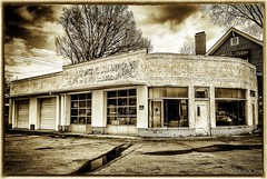 Down on the Corner (Back Road Photography (Kevin W. Jerrell)) Tags: abandoned downtown empty oldbuildings rundown garages nikond60 kingsporttennessee backroadphotography