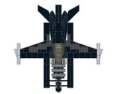 D4DRazortail004 (Dragonov Brick Works) Tags: lego aircraft snot ldraw studless miniscale