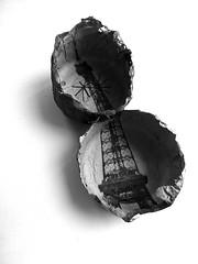 brooch (Ines Seidel) Tags: paris paper newspaper brooch eiffeltower jewelry jewellery eiffelturm papier schmuck zeitung anstecker brosche