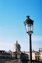 Bridge & Sky (lucapascotto) Tags: paris film 50mm t3 manualfocus analogic filmphotography f17 portra160 manualexposure konicaautoreflex konicahenanon