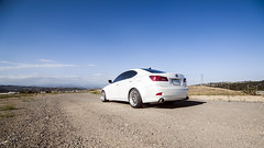 _DSC3142 (CheezyCheeto) Tags: white lake cars car wheel docks sedan boat is dock pond parking low wheels drop structure turbo cal launch pomona rim rims genesis hyundai poly coupe lowered dropped puddingstone imports lexus cpp launching is350 20t is250 purist purists importscpp
