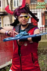 IMG_8845 (Neil Keogh Photography) Tags: blue red white black male hat silver soldier gun purple pants mask horns jacket card hero sword visor 2016 bodywarmer cosplaycosplayer nwcosplayeastermeet