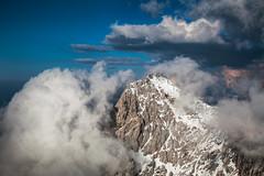 Zugspitze (pfn.photo) Tags: schnee sky mountain snow alps clouds germany landscape austria europe wolken berge summit alpen landschaft gebirge gipfel bergspitze