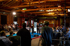 Saarland Dialog in Losheim am See (13.04.2016) (Das Saarland) Tags: saarland dialog losheimamsee eisenbahnhalle krampkarrenbauer saarlanddialog