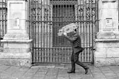 Lluvia (ralcains) Tags: bw espaa blancoynegro monochrome rain analog umbrella canon 50mm monocromo blackwhite lluvia sevilla andaluca analgica spain cathedral kodak trix catedral monochromatic seville analogue andalusia paraguas monocromtico andalousia canonf1 canonfd fdlens