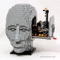The Engineer (JK Brickworks) Tags: sculpture lego mechanical head engineering bust kinetic mechanic engineer