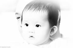 Baby Christel in high key (Gardner Smith Calibuso) Tags: high key bw black white monochrome portrait baby new born toronto filipino ontario