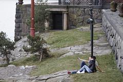 look ahead! (Horace T) Tags: street canon stockholm rue selfie ef24105mm eos60d