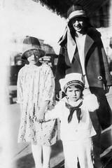 grandmom george & aunt madeline - on the sidewalk (Doctor Casino) Tags: hat judy grandmom sailorsuit florentine godel girth koochie georgedewitt