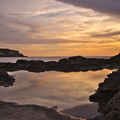 Agios Georgos sunset 4 (senza senso) Tags: longexposure sunset sea reflection water cyprus nd squared darktable