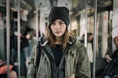 Finding my Way (fehlfarben_bine) Tags: portrait woman berlin train emotion nikondf