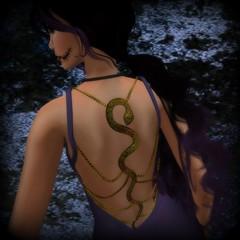HSe SW - TDF Slither Dress Back_001 (melyna.foxclaw) Tags: tdf hse analogdog whimsicalwonders winryswhimsey thedarkfae slinkhighheels hiddensanctuaryevents moonlitecatcreations somethingwickedbegins slitherdress quinnmakeupgacha