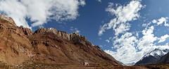 Panorama: Paisaje Puente del Inca (Yamila Barcia) Tags: blue panorama orange mountains argentina inca ruta landscape highway warm turquoise paisaje panoramic mendoza naranja cordillera montaas puentedelinca circuito calido altamontaa lasheras tonalidades rutasargentinas ruta7 nikond90
