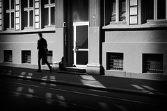 Lights & Shadows (Creative Days) Tags: street bw man oslo norway norge blackwhite shadows sonya7sii