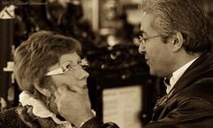 Portrait (Natali Antonovich) Tags: brussels portrait love monochrome glasses couple belgium belgique belgie pair profile romance harmony stare lovestory tenderness accordance heandshe affectionateness sweetbrussels