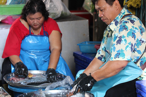 Hua Hin day markets - fish stall