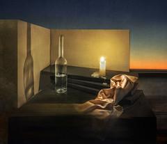 Sunset (krasnoperovv) Tags: sunset glass candle stillife photoart