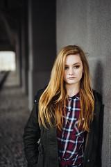 Vanessa #1 (ArneSchramm) Tags: portrait film girl ginger essen lol piers sony tunnel zollverein zeche pfeiler a7ii vsco a7sii