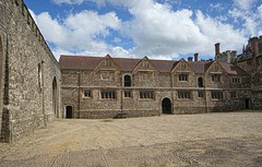 Another view of the stone court at Knole House in Sevenoaks, Kent, England (mharrsch) Tags: park england house castle architecture kent estate realestate royal palace tudor mansion nationaltrust sackville sevenoaks knolehouse countryestate mharrsch