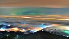 梅山36彎~雨夜琉璃~ Colored glass light (Shang-fu Dai) Tags: sky night clouds landscape nikon taiwan nightscene formosa 台灣 夜景 d800 嘉義 琉璃 雲海 雨 梅山 36灣 flickrbronzetrophygroup coloredglasslight liulilazurite afd2870mmf35