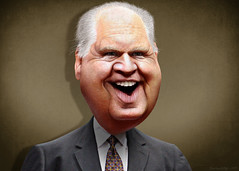 Rush Limbaugh - Caricature (DonkeyHotey) Tags: art face photomanipulation photoshop radio photo political politics cartoon manipulation host caricature republican gop commentary hopefuls rushlimbaugh politicalart talkshow eib politicalcommentary donkeyhotey