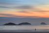 The Dog Walker (Shuggie!!) Tags: sea beach sunrise skyscape landscape dawn islands scotland williams shoreline silhouettes karl lothians hdr firthofforth digitalmanipulation bassrock yellowcraig zenfolio craigleithisland lambisland karlwilliams