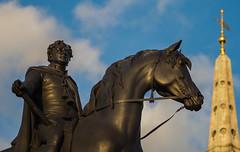 A Trafalgar Square Statue (Olympus OMD EM5II & mZuiko 75mm F1.8 Prime) (markdbaynham) Tags: urban london westminster statue square prime central trafalgar evil olympus metropolis f18 zuiko omd csc oly mz 75mm londoner londonist m43 zd mft mirrorless micro43 microfourthirds micro43rd mzuiko m43rd em5ii zuikolic