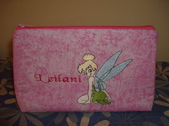 tinkerbell pencil case (delsdesignz) Tags: pencil handmade tinkerbell case zipper embroidered