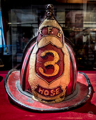 Hose 3 (brianloganphoto) Tags: new york city nyc newyorkcity red portrait newyork black history architecture america fire fighter unitedstates manhattan united north helmet gear indoor northamerica historical states firefighter nyfd conditions regions