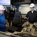 CNO tours the bridge aboard the future USS Zumwalt (DDG 1000)