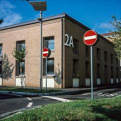 Via Sibilla Aleramo, Modena (alkanphel) Tags: urban italy film analog rolleiflex zeiss mediumformat landscape fujifilm modena fujichrome e6 provia100f 28f rdpiii