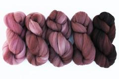 puce gradient (Bee Mice Elf) Tags: wool recipe dyer indie monday dye fiber tutorial roving puce handdyed mixedup beemiceelf dyerecipe