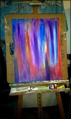 paintng1 (swindlehorne) Tags: start painting beginning acrylics easel xtian rine paperwadperfect christianrine swindlehorne
