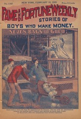 """Seven bags of gold, or, How a plucky boy got rich"" in Fame and fortune weekly, no. 1167 (niudigitallibrary) Tags: gold investigation sleepwalking larceny dimenovels popularliterature franktousey fameandfortuneweekly northernillinoisuniversitydigitallibrary"