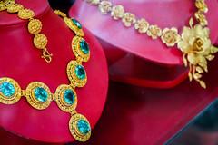 Gorgeous jewelries in Talat Phosi market, Luang Prabang, Laos (travelingmipo) Tags: travel gold photo necklace asia southeastasia market jewelry bazaar laos luangprabang    louangphrabang         phosi   talatphosi