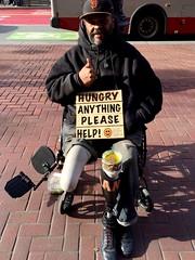 Giants fan (vhines200) Tags: sanfrancisco wheelchair homeless 88 panhandler prostheticleg 2016