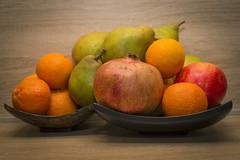 Fruits (mary.ovch) Tags: red stilllife orange green apple fruit nikon pear mandarin citrus garnet d610