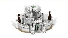 Minas Tirith (Anduin1710) Tags: city white men king minas lego lotr return tolkien middleearth jrr tirith the thelordoftherings ldd gondor digitaldesigner